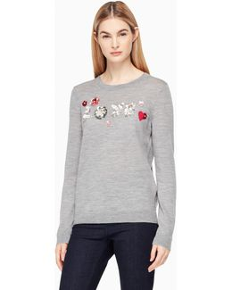 Embellished Love Sweater