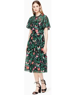 Jardin Embroidered Lace Dress