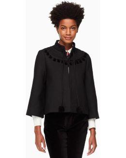 Pom Embroidered Jacket