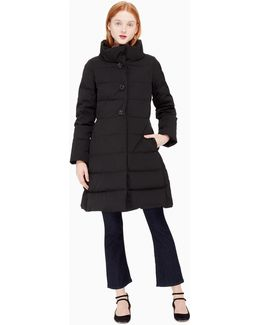 On Pointe Jewel Button Puffer Coat