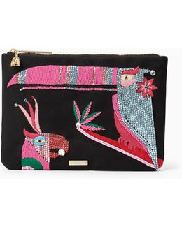 On Purpose Beaded Parrot Bag