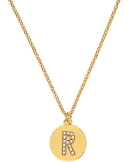 Pave Initial Pendant