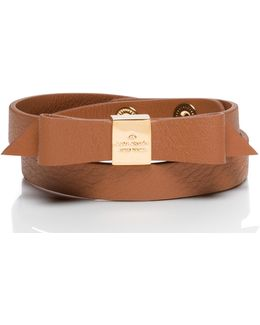 Wrap Things Up Leather Bow Wrap Bracelet