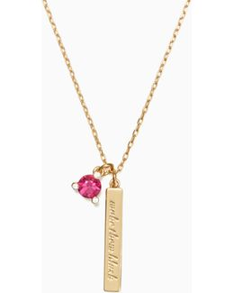 Gold-tone Birthstone Crystal Necklace
