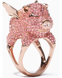 Imagination Pave Pig Ring