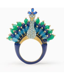 Full Plume Peacock Ring