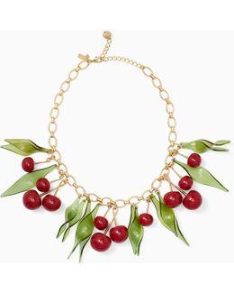 Ma Chérie Cherry Statement Necklace