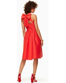 Bow Back Fit And Flare Dress