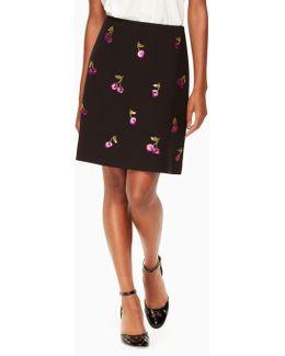 Sequin Cherries Skirt