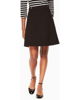 Crepe Military Skirt