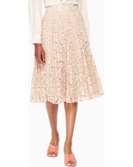 Poppy Lace Pleated Skirt