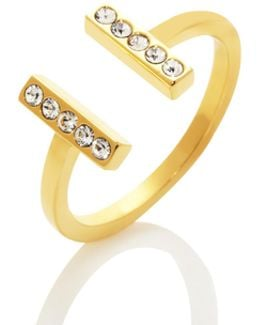 Dainty Sparklers Bar Ring