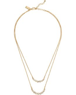 Dainty Sparklers Double Strand Necklace