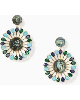 Peacock Way Statement Earrings