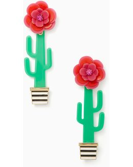 Scenic Route Cactus Statement Earrings