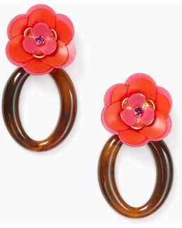 Rosy Posies Statement Earrings