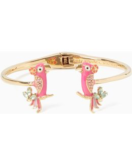 Haute Stuff Parrot Open Hinged Cuff
