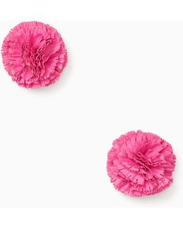 Fiesta Floral Clip Earrings