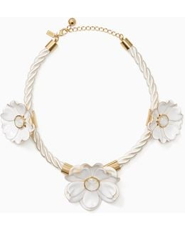 Bright Blossom Flower Statement Necklace