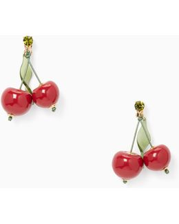 Ma Chérie Cherry Statement Earrings