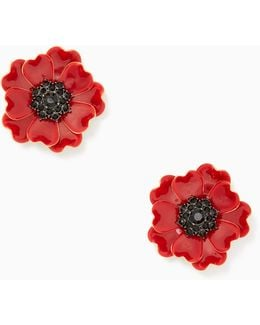 Precious Poppies Statement Studs