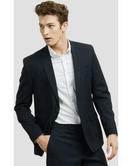 Navy And Black Stripe Suit Jacket