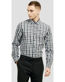 Slim-fit Black And White Check Shirt