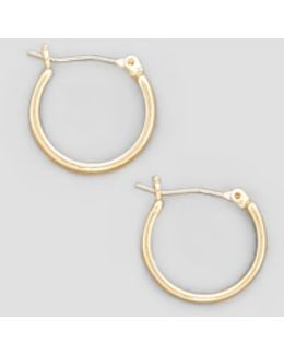 Small Gold-tone Hoop Earring