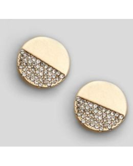 Gold Tone Mismatch Earring