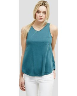 Sleeveless Tee With Pocket