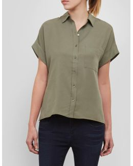 Dolman Button-front Top