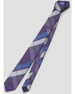 Glacier Plaid Tie