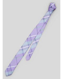 Slim Plaid Tie