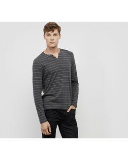 Marled Stripe Henley