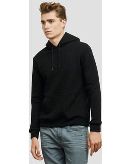 Quilted Pullover Hoodie