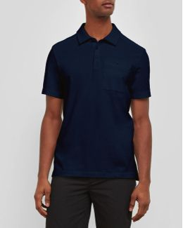 Short-sleeve Solid Polo