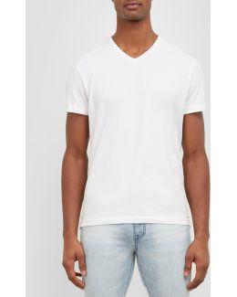 Short-sleeve V-neck