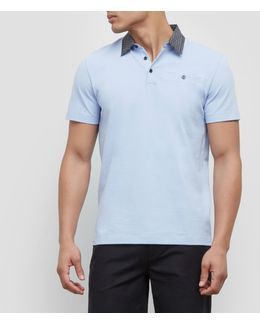 Short-sleeve Contrasting Polo