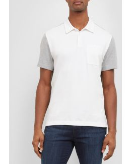 Short-sleeve Color Block Polo