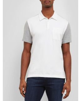 Short-sleeve Color Block Polo