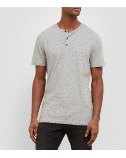 Short-sleeve Geometric Henley