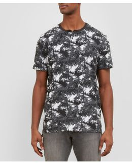 Short-sleeve Palm Tree Henley