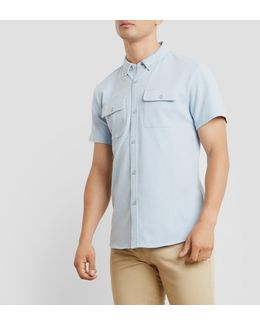 Short-sleeve Solid Shirt
