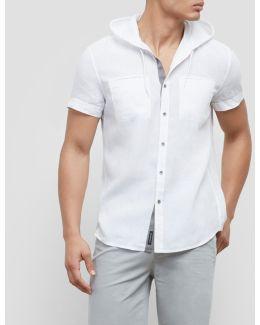 Short Sleeve Linen Hoodie