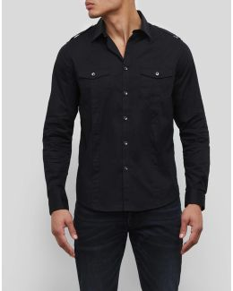 Long Sleeve Stretch Military Shirt