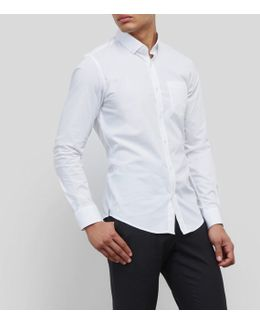 Solid Button-front Shirt