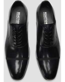 Cap Toe Lace-up Leather Oxford