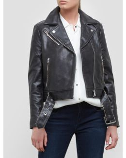Tough Girl Belted Leather Jacket