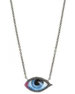 Small Diamond Eye Necklace