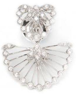 Diamond Fan Earring